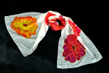 hand painted silk scarve