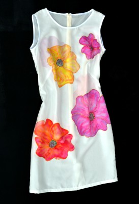 silk hand painted dress