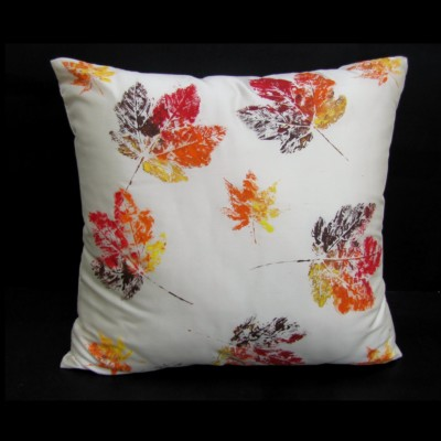 hand painted silk cushion
