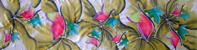 hand painted silk picture