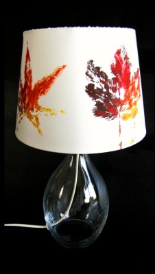 hand painted silk lamp
