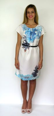 Silk dress hand painted