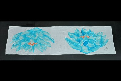 silk scarve hand painted
