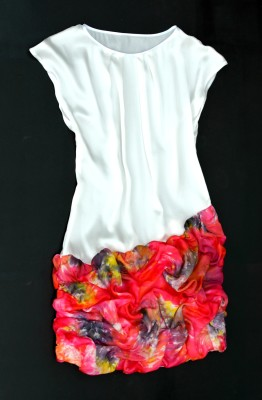 silk dress made in italy