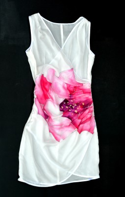 hand painted silk dress made in italy