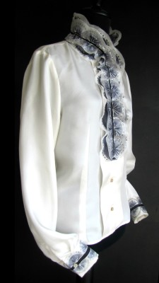 hand painted silk shirt