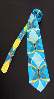 made in italy hand painted silk tie