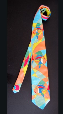 hand painted silk tie