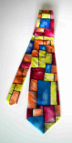 silk hand painted tie made in italy