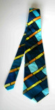 regimental Silk tie hand painted